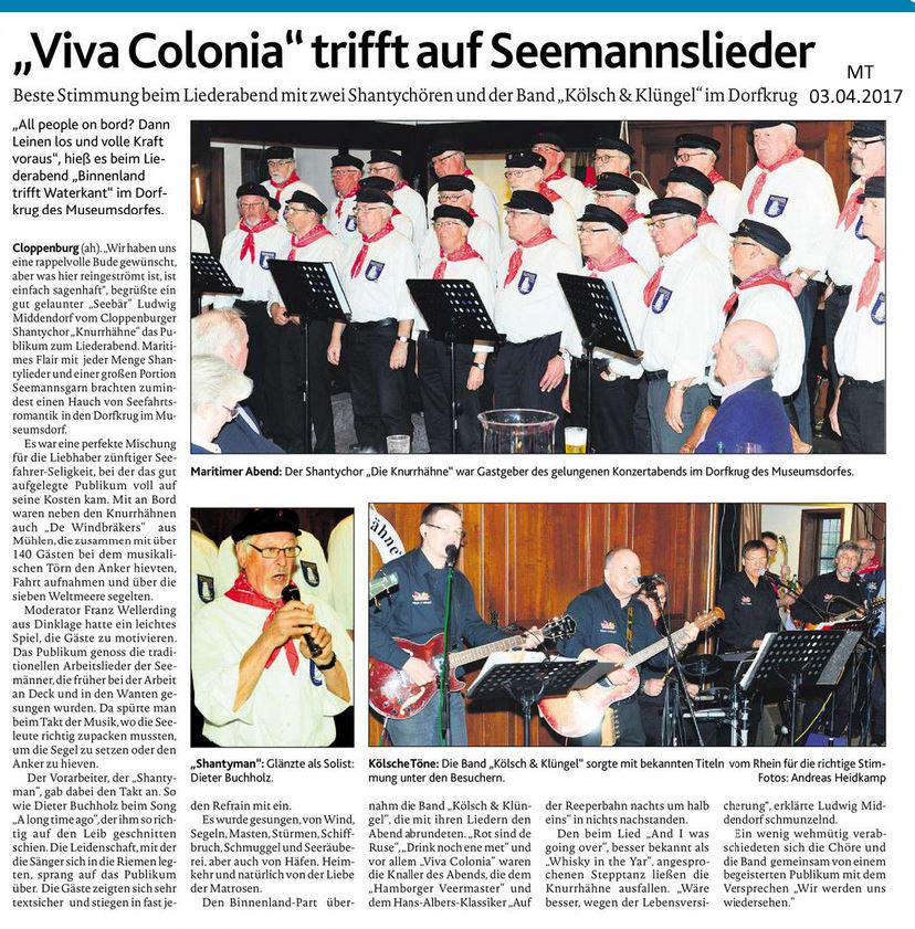 Viva Colonia trifft auf Seemannslieder